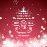 Christmas greeting card with Christmas typography Stock Photos