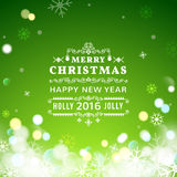 Christmas greeting card with Christmas typography Royalty Free Stock Image