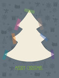 Christmas greeting card with color tapes Stock Images