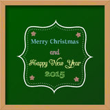 Christmas greeting card. Colorful chalkboard sign, vector illustration, eps 10 with transparency Royalty Free Stock Image