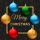 Christmas greeting card with colorful fireworks. Vector illustration Royalty Free Stock Images