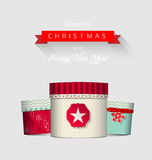 Christmas greeting card with colorful Royalty Free Stock Photography