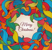 Christmas greeting card with colorful twirls Royalty Free Stock Photography