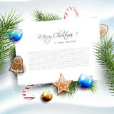 Christmas greeting card with copyspace Stock Images