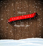 Christmas greeting card in country style Stock Image