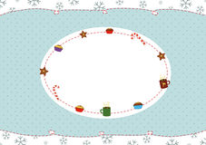 Christmas greeting card. 2d design of a Christmas greeting card Royalty Free Stock Photography