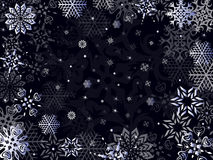 Christmas greeting card in dark blue hues Royalty Free Stock Images