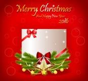 Christmas greeting card. With the christmas decoration Stock Image