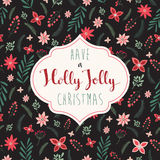 Christmas greeting card. Christmas card with decorative background Royalty Free Stock Images