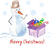 Christmas Greeting Card. Stock Image