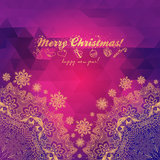 Christmas greeting card with decorative tree from  Stock Images