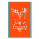 Christmas  greeting card with deer, vector Royalty Free Stock Images