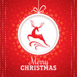 Christmas greeting card with deer Stock Photo