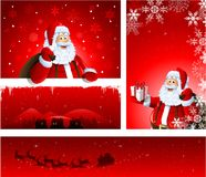 Christmas greeting card design Stock Images