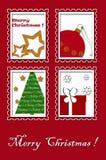 Christmas greeting card design Stock Image
