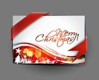Christmas greeting card design Stock Photography