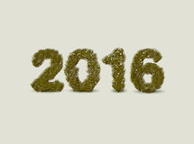 Christmas greeting card design. 2016, made of pine branches. Vector illustration. Christmas greeting card design. 2016, made of pine branches Royalty Free Stock Photo