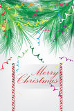 Christmas Greeting Card design Royalty Free Stock Images