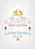 Christmas Greeting Card design Royalty Free Stock Photos