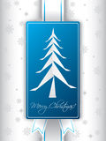 Christmas greeting card design with origami tree Stock Image