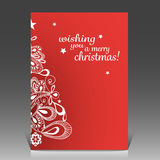 Christmas Greeting Card Design Template Royalty Free Stock Images