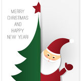 Christmas Greeting Card Design Template Stock Images