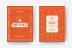 Christmas greeting card design template vector illustration. stock images