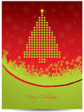 Christmas greeting card design with tree Stock Photo