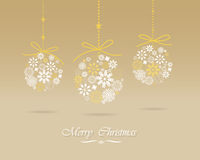 Christmas greeting card. Elegant Greeting card, Christmas , ceremony, new year card, vector and illustration can be use for wallpaper, background, backdrop Stock Photos