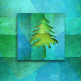 Christmas greeting card, elegant fir tree. Silhouette with copy space for text Stock Photo