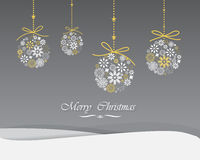Christmas greeting card. Elegant Greeting card, Christmas and new year card, vector and illustration can be use for wallpaper, background, backdrop Royalty Free Stock Photography