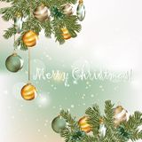 Christmas greeting card in elegant style Royalty Free Stock Photography