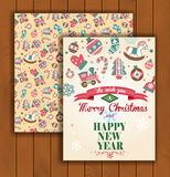 Christmas greeting card with an envelope Stock Images