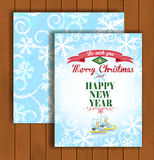 Christmas greeting card with an envelope. Cute Christmas greeting card with an envelope - an ice background and the skates Royalty Free Stock Photography