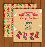 Christmas greeting card with an envelope Royalty Free Stock Photos
