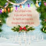 Christmas greeting card. EPS 10 Royalty Free Stock Photo