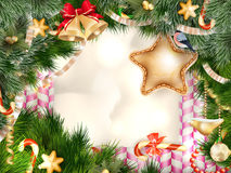 Christmas greeting card. EPS 10 Royalty Free Stock Images