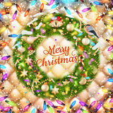 Christmas greeting card. EPS 10 Stock Photos