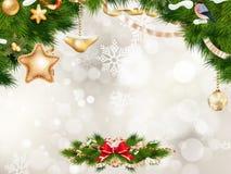 Christmas greeting card. EPS 10 Stock Photo
