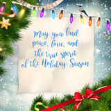 Christmas Greeting Card. EPS 10. Christmas Greeting Card. Merry Christmas lettering. EPS 10 vector file included Stock Image