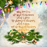 Christmas Greeting Card. EPS 10. Christmas Greeting Card. Merry Christmas lettering. EPS 10 vector file included Stock Images
