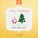 Christmas greeting card4. Christmas greeting card for everyone Royalty Free Stock Images