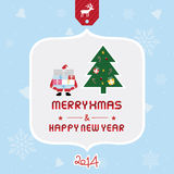 Christmas greeting card5. Christmas greeting card for everyone Stock Images
