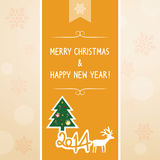 Christmas greeting card6. Christmas greeting card for everyone Stock Photography