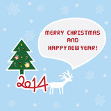 Christmas greeting card11. Christmas greeting card for everyone Royalty Free Stock Images