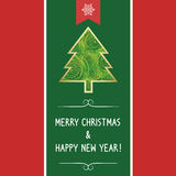 Christmas greeting card67 Stock Image