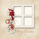 Christmas greeting card for a family Royalty Free Stock Photos