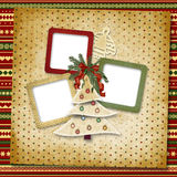 Christmas greeting card for a family Royalty Free Stock Images