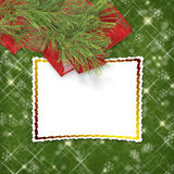 Christmas greeting card with firtree Stock Images