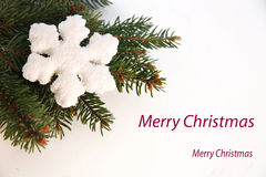 Christmas greeting card with flake stock images